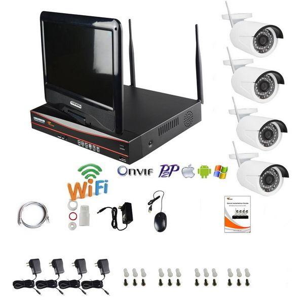 Kit NVR WiFi 4 caméras