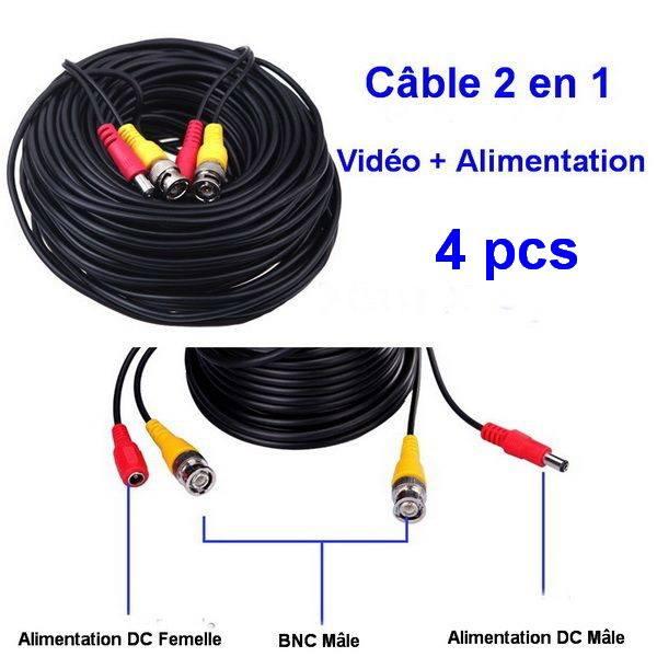 Câble BNC 2 en 1
