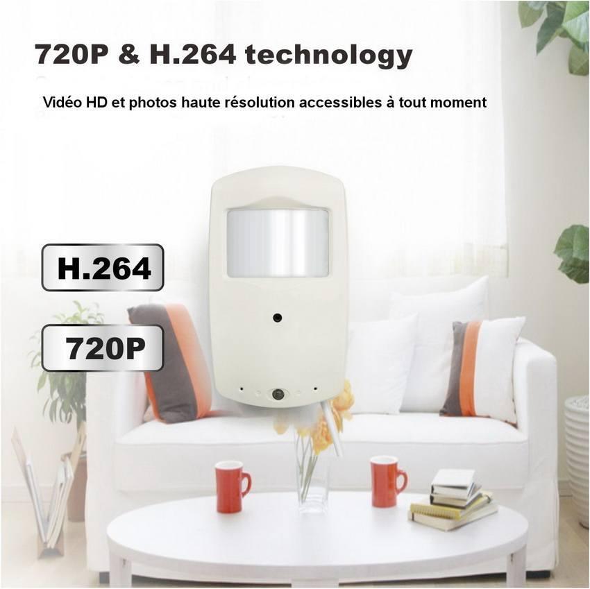 camera wifi cach e dans d tecteur de pr sence. Black Bedroom Furniture Sets. Home Design Ideas