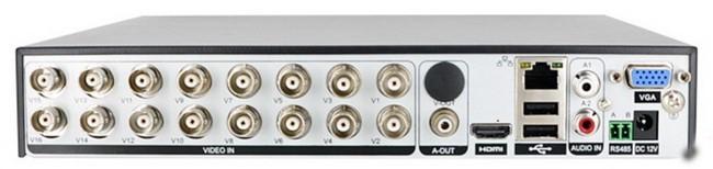 DVR 16 canaux connectique