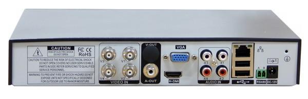 Enregistreur 4 canaux connectique