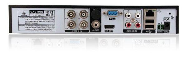 Enregistreur HD 4 canaux connectique
