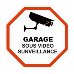 Autocollant Sticker Vidéosurveillance Garage