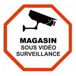 Autocollant Sticker Magasin sous Surveillance Vidéo