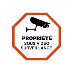 Autocollant Sticker Propriété Sous Vidéo Surveillance