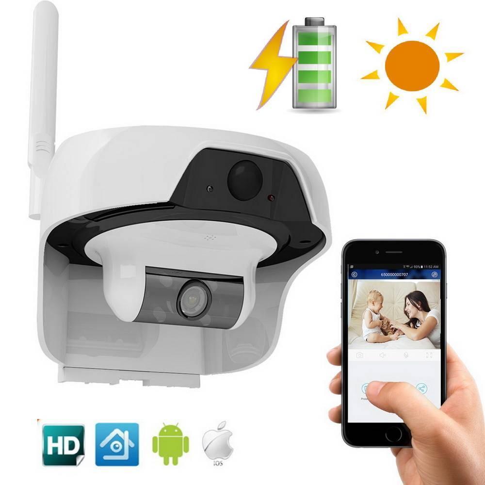 d980eaa798cbe Caméra surveillance solaire infrarouge extérieure HD