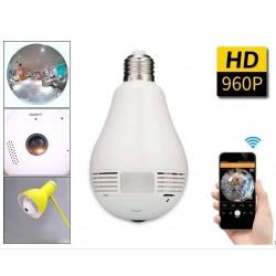 Caméra WiFi ampoule panoramique HD