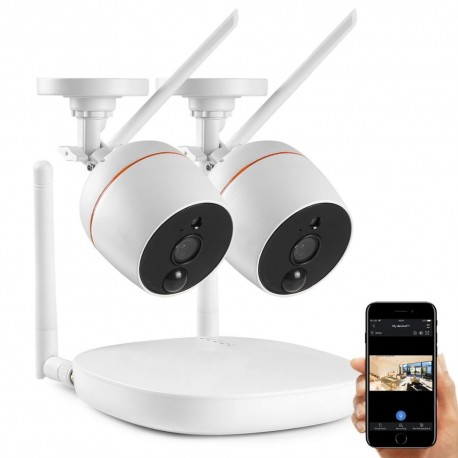 Kit NVR WiFi 2 Caméras + Enregistreur