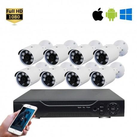 Kit VidéoSurveillance Enregistreur + 8 Cameras