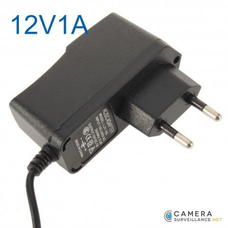 Adaptateur secteur transformateur pour caméra 12v1000mA