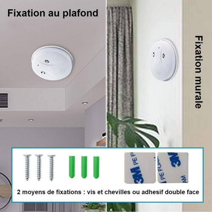 Fixation caméra mur ou plafond