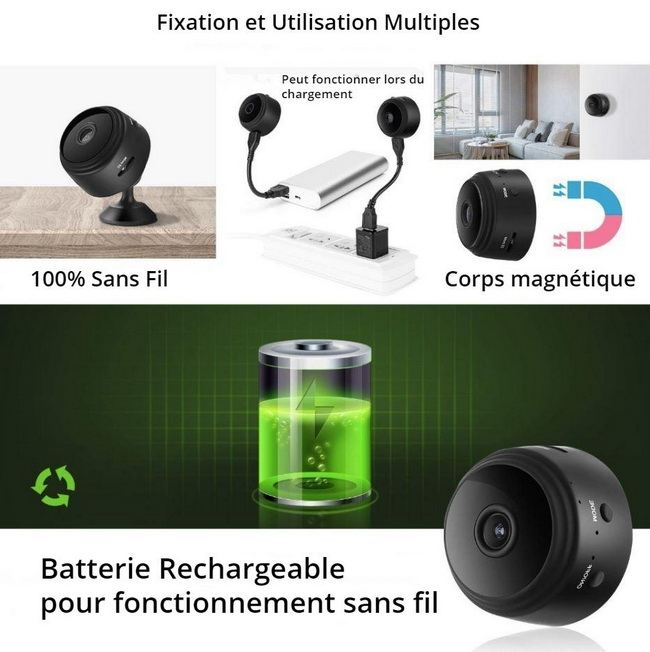 Caméra espion WiFi - utilisation multiple
