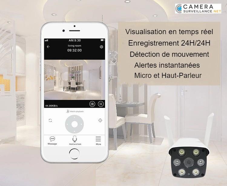 Caméra IP WiFi vidéosurveillance