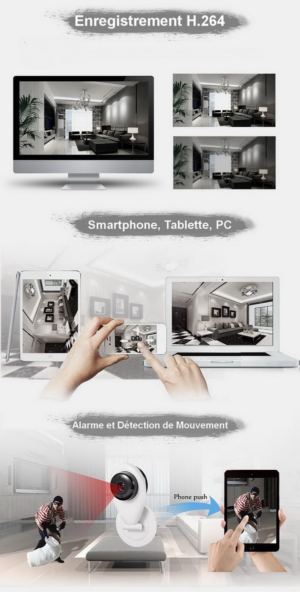 Caméra IP Détection de mouvement