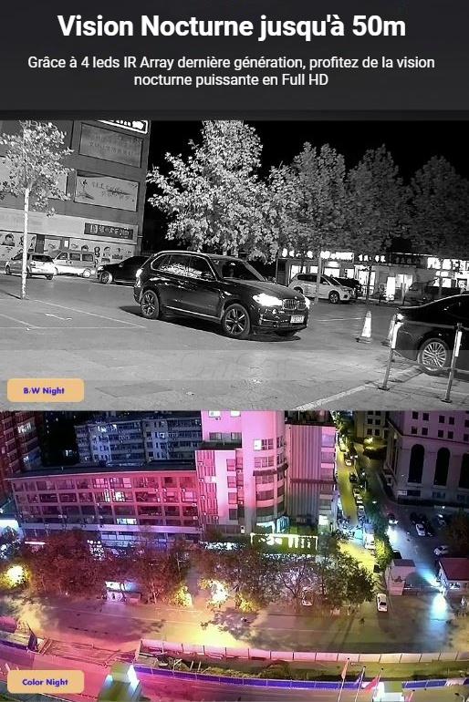 Caméra IP infrarouge longue portée