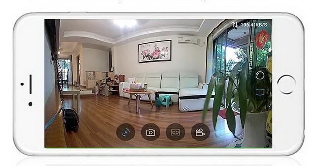 Caméra panoramique fisheye 180°
