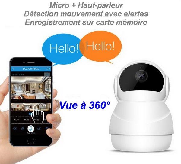 Caméra 360° avec Audio