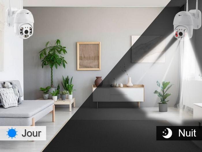 Caméra PTZ WiFi avec vision de nuit couleur