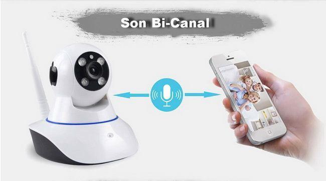 Caméra avec son bi-canal