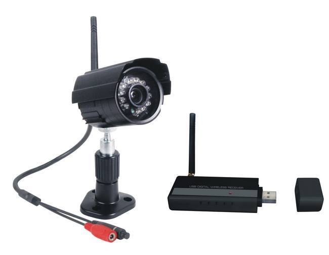 kit de vid osurveillance sans fil num rique pour pc. Black Bedroom Furniture Sets. Home Design Ideas