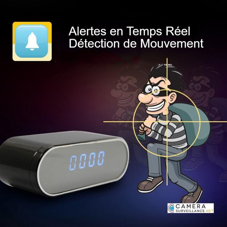 Caméra WiFi espion alertes sur détection de mouvement