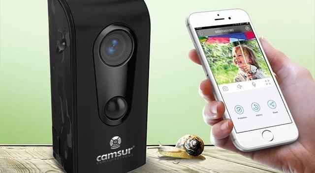 Caméra WiFi sur batterie Camsur