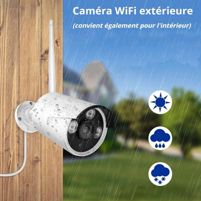 Caméra WiFi extérieure kit NVR