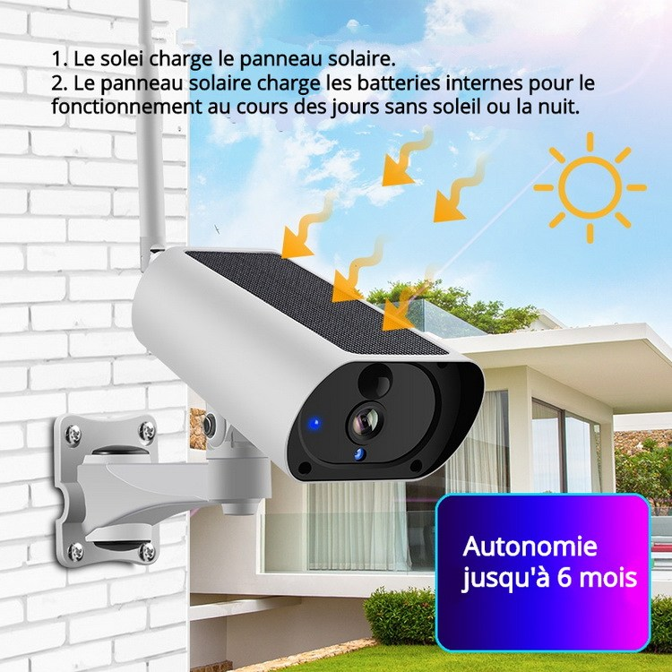 Caméra WiFi solaire