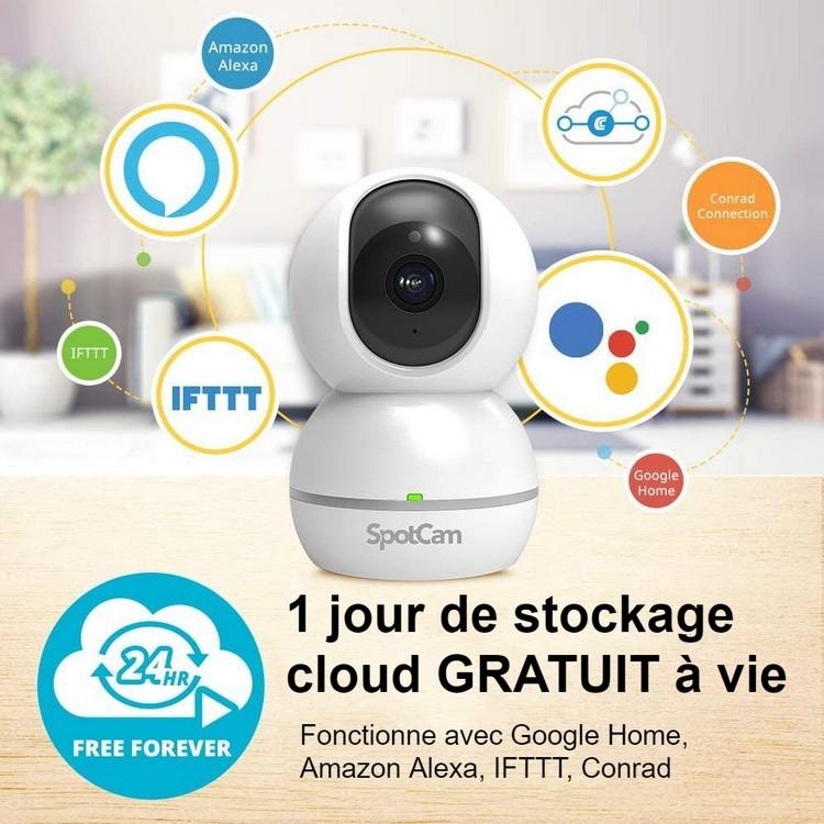 Caméra WiFi stockage cloud gratuit