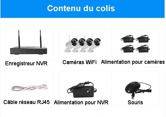 Kit WiFi - contenu du colis