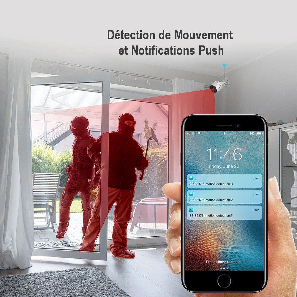 Alertes sur détection de mouvement