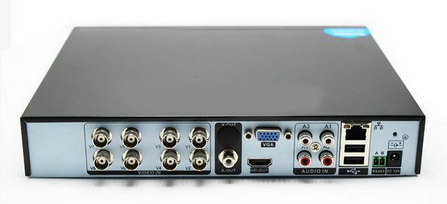 Enregistreur 8 canaux connectique