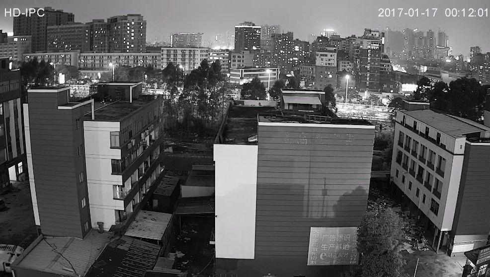 Exemple image vidéosurveillance caméra extérieure 1080P