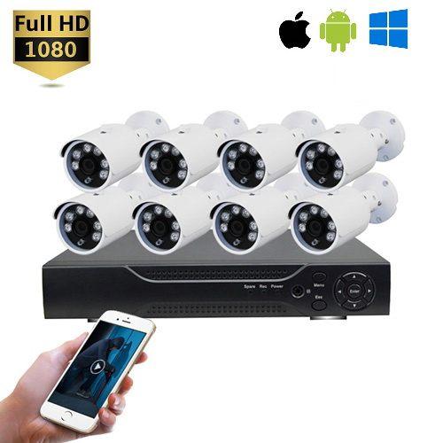 Kit vidéosurveillance 8 caméras DVR