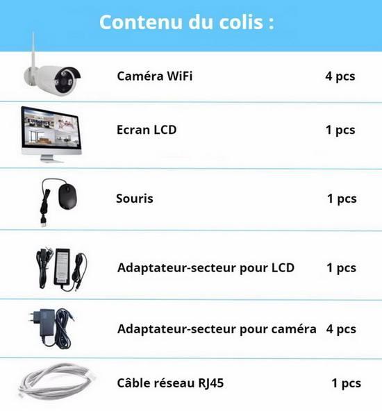 Kit WiFi NVR contenu du colis