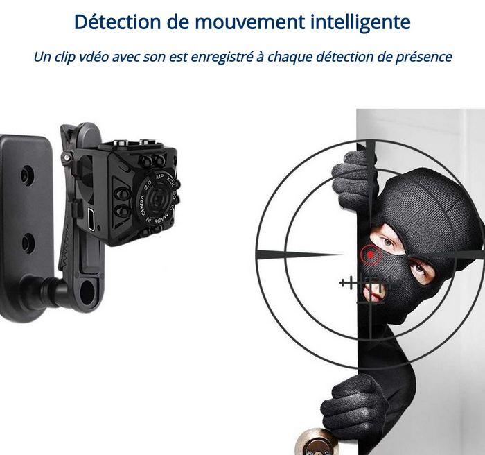 Micro caméra enregistrement à détection de mouvement