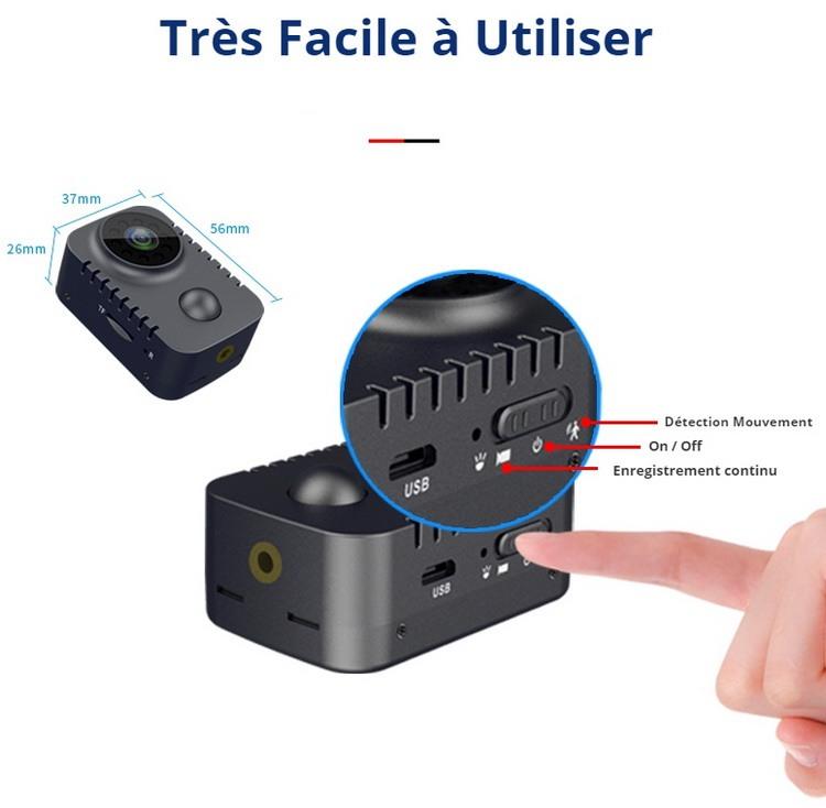 Mini caméra espion simple à utiliser