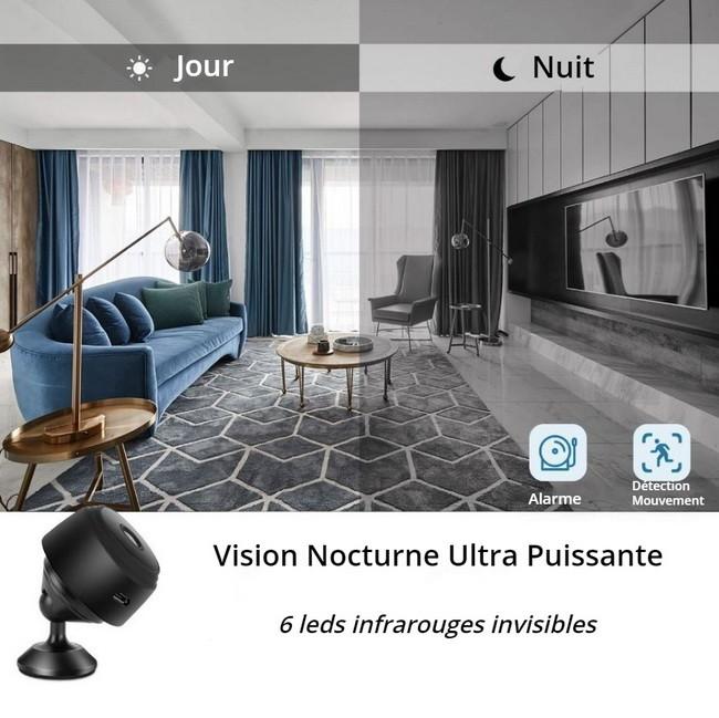 Mini caméra espion WiFi infrarouge