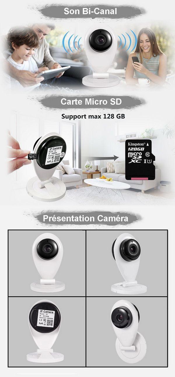 Présentation caméra connectée
