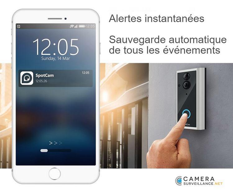 Sonnette caméra surveillance WiFi