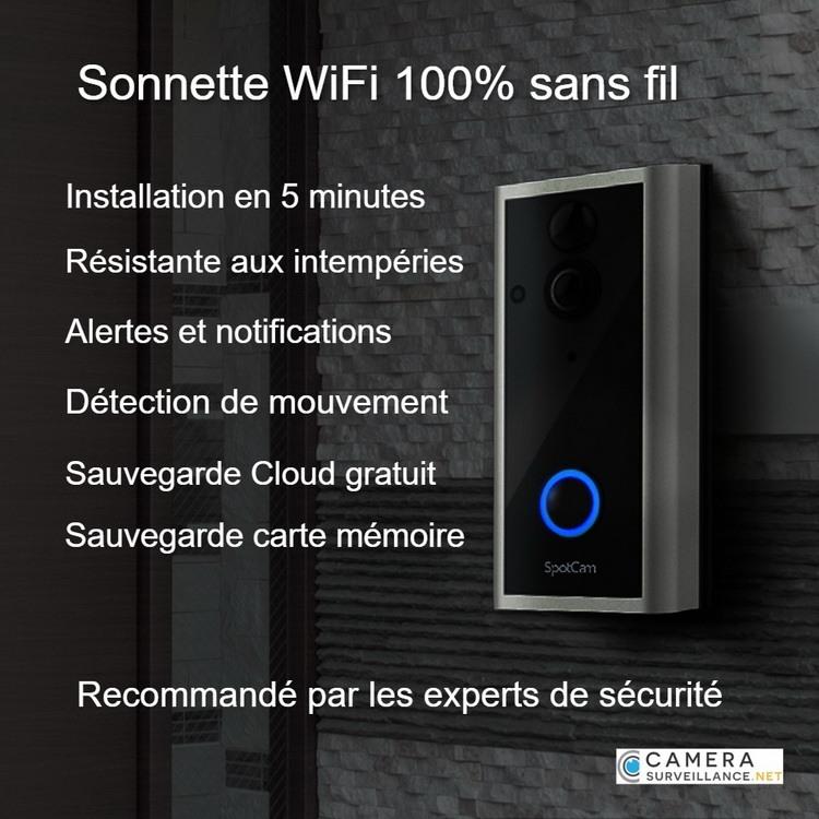 Avantages Sonnette WiFi Vidéo