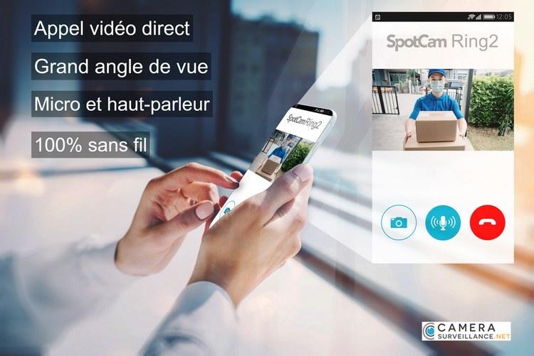 Sonnette WiFi vidéo sans fil