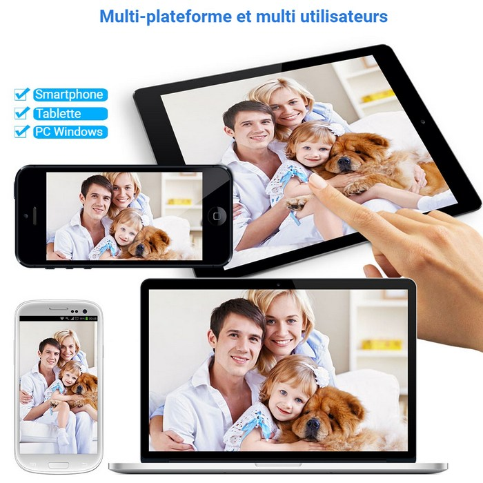 Multi plateforme, support smartphone, tablette, PC Windows