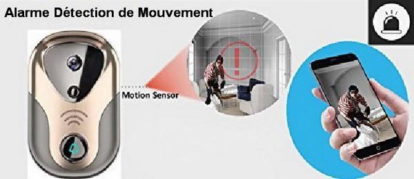Visiophone alerte détection mouvement